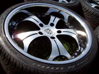 19 Vertini Regency Wheels Black Porsche 996 944 928 911 Carrera