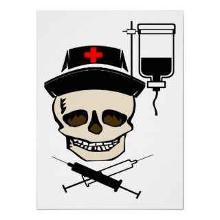 Jolly Roger Pirate NURSE POSTER TALK LIKE A PIRATE DAY CELEBRATION