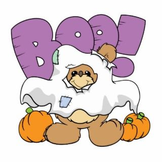 boo ghost cute halloween teddy bear design photo cut out