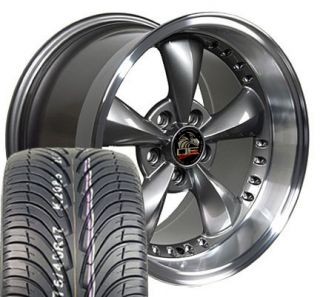 17 9 10 5 Anthracite Bullitt Bullet Wheels 4 Deep Rims ZR Tires Fit