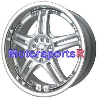 18 XXR 502 Wheels Rims Silver Staggered 89 240sx 4 Lugs