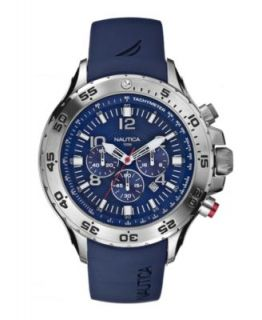 Nautica Watch, Mens Black Polyurethane Strap N15664G   All Watches