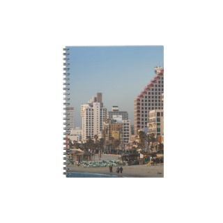 Israel, Tel Aviv, beachfront, hotels, dusk Journals
