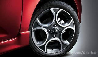 KIA Picanto All New Morning OEM Black Wheel Center Hub Caps Set of 4