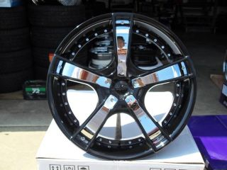 Rims and Tires Wheels Starr 663 Black Chrome Camaro Magnum Charger 24