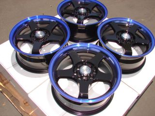 15 Blue Wheels Rims 4 Lugs Acura CL TC Vigor CRX Hyundai Accent