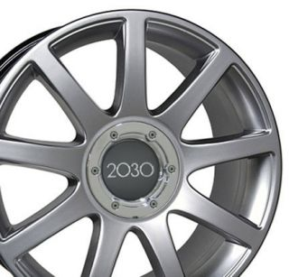 18 Hyper Silver RS4 Style Wheels 18x8 Set of 4 Rim Fit Audi A4 A6 A8
