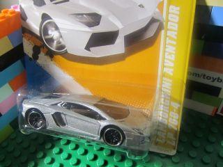 Wheels Silver Lamborghini Aventador Diecast 2012 New Models Series 12