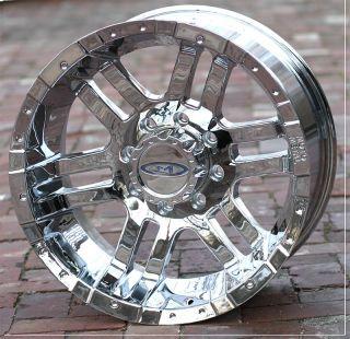 17 inch Chrome Moto Metal 951 Wheels Rims Chevy GMC Dodge RAM 2500