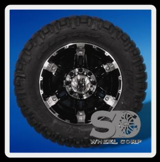 Black with 285 65 18 Nitto Trail Grappler MT Tires Wheels Rims