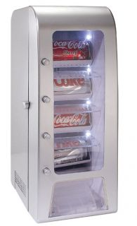 12 Soda Can Mini Light Up Vending Machine New
