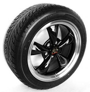 17 Black Bullitt Style Wheels Rims Tires 17x8 Fits Mustang®