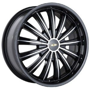 18 inch Baccarat Taboo Black Wheels Rims 4x100 Lancer Mirage Sentra
