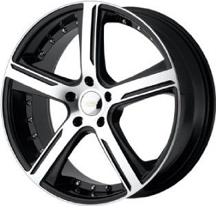 18 inch 18x8 DIAMO 37 Karat Black Wheels Rims 5x112 42