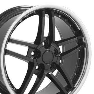 18 8 5 10 5 Black Corvette C6 Z06 Style Wheels Rims Fit Camaro