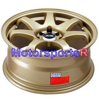 16 16x7 XXR 522 Gold Concave Wheels Rims 06 11 12 Honda Fit 93 94 97