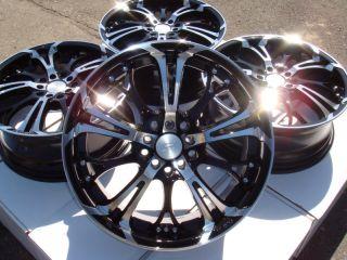 Black Wheels S40 S60 S80 V50 ion Redline Saturn Aura 5 Lug Rims