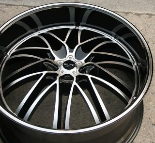 RACING 947 22 BLACK RIMS WHEELS MAXIMA STAGGERED / 22 X 9.0/10 5H +40
