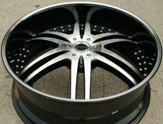 DENARO 126 26 BLACK RIMS WHEELS TAHOE SILVERADO 2WD / 26 X 10 5H +15