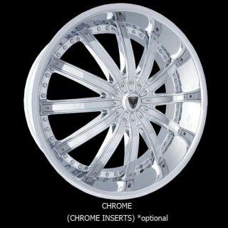 28 Wheels Rims Package Free Tires Venice Dolce Black Chrome 6x139 7