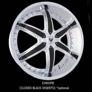 28 Wheels Rims Package Free Tires Venice Dolce Chrome Chrome 5x120