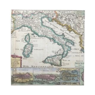 Vintage Map of Italy (1706) Cloth Napkins