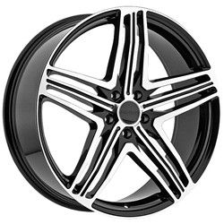 Menzari Z12 Black Wheels Rims 5x112 +45 / Volkswagen CC Golf GTI Jetta