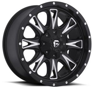 22x9.5 Fuel Throttle black wheel rim 8x180 2011+ Silverado 2500 + 3500