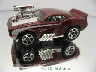 2004 Hot Wheels 071 Tooned Camaro Z28 1969