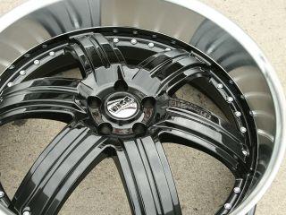 416 24 Black Rims Wheels Crown Victoria Towncar 24 x 9 5 5H 15