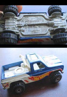 Vtg Hotwheels 1977 Blue Chevy Truck Mattel