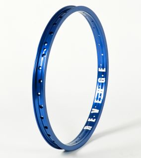 BMX WHEEL BLUE RIM 36 SPOKES PROFILE S&M FIT UNITED ODYSSEY RIMS BIKE