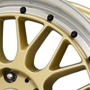 New 17x7 5 5x120 Drag Dr 45 Gold Wheels Rims