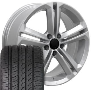 18 Silver CC Style Wheels Set of 4 Rims Tires Fit Volkswagen VW Audi