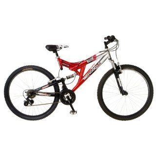 Dual Suspension Mountain Bike 26 Wheels Red