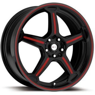 16x7 5 Black Red Wheel Focal F 01 4x100 4x4 5 Integra