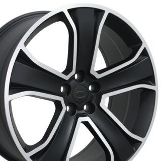22 Matte Black Polished Wheel Rim Fits Range Land Rover HSE Sport LR3