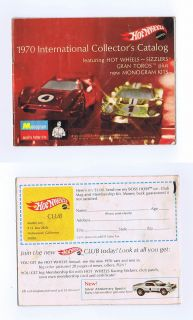 Hot Wheels 1970 International Collector's Catalog Measures approx. 4