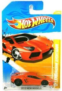 2012 Hot Wheels New Models 12 Lamborghini Aventador Orange 12 247