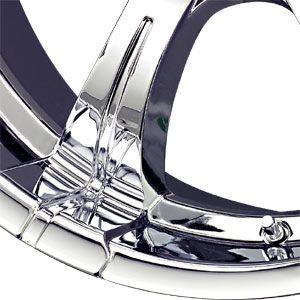 New 20x8 5 6x139 7 Liquid Metal Chrome Wheels Rims