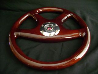 New 14 Dark Walnut Wood Grain Steering Wheel