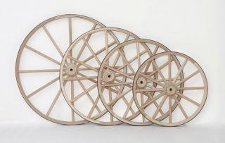 Amish Heavy Duty Wagon Wheels Wooden Outdoor Ornamental Decorative