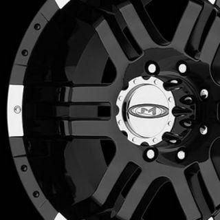 MOTO METAL MO951 5X4.5 EXPLORER WRANGLER CHALLENGER BLACK WHEELS RIMS