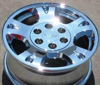 STOCK 4 17 FACTORY CHEVY AVALANCHE 1500 SILVERADO CHROME WHEELS RIMS