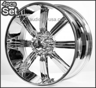 30 Wheels Rims for Chevy Ford 8LUG H2 Hummer Chrome w Huge Size Lip