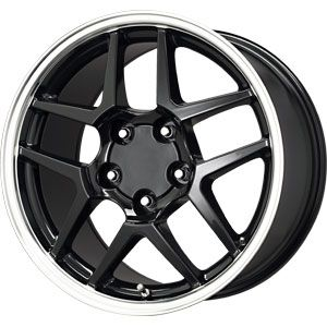 New 17X9.5 5 120.65 Z06 Replica Wheels Black Machined Wheels/Rims