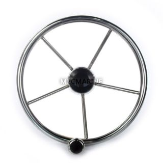 13 New Stainless Steel Boat Marine Steering Wheel Rib