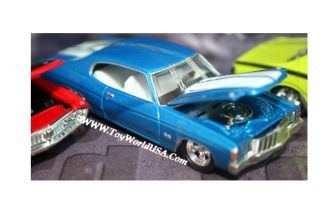 100% Hot Wheels 30th Anniv of 71 Muscle Cars 4 Car Set Ford, Dodge