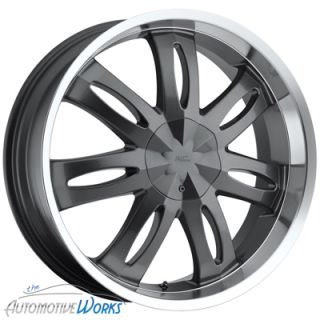 Milanni Witchy 5x110 5x115 38mm Gun Metal Wheels Rims inch 20