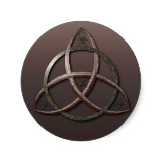 Celtic Trinity Knot And Scottish National Tartan Stickers